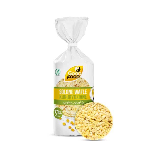 Cienkie wafle kukurydziane i ryżowe